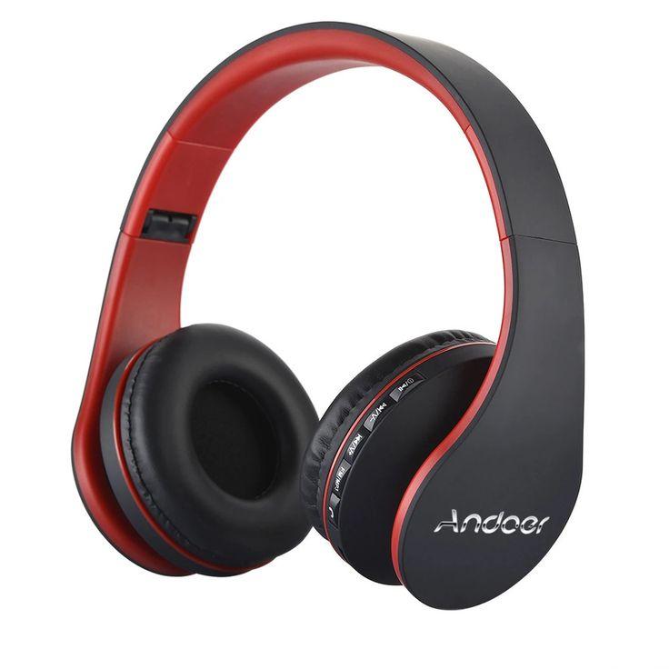 Best Selling Andoer Wireless Headphones Digital Stereo Bluetooth 3.0 EDR Headset Card MP3 player Earphone FM Radio Music for all