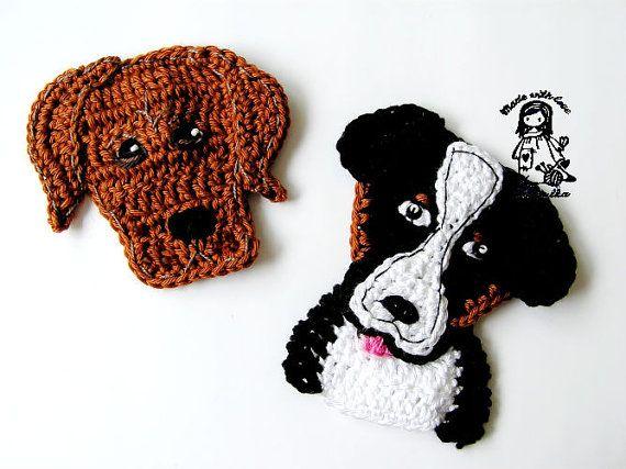 Bernese Mountain Dog pattern van VendulkaM op Etsy, $3.80