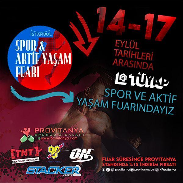 Provitanya.com Olarak 14-17 Eylül (Perşembe - Pazar) Tarihleri Arasında İstanbul Tüyap Spor ve Aktif Yaşam Fuarındayız. 🔸Fuar Süresince Standımızdan Yapacağınız Alışverişlerinizde Anında %15-%25 arası İndirimler ve Hediyelerimiz Sizleri Bekliyor.📣 🎁 🔸 Ücretsiz Fuar giriş davetiyesi için👉 http://bit.ly/2eOFh3R  #provitanya #optimum #bsn #optimumnutrition #tntsupplements #stacker2europe #fitnessexpo #tuyap #sporveaktifyasamfuari #sınırlarızorluyoruz #sports #sport #fitness #spordayiz…