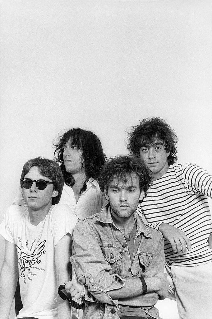 Photo of Michael STIPE and Mike MILLS and <b>REM</b> and Peter BUCK ...