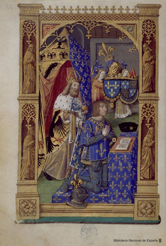 From the Book of Hours of Charles VIII, King of France – Charles VIII