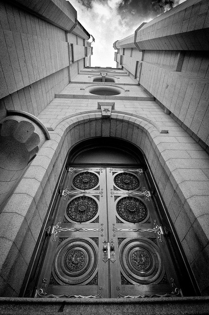Awesome Angle!!!  The Door to the Temple ~ Salt Lake City by NefariousRich, via Flickr