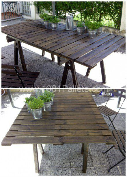pallet outdoor table pallet ideas outdoor tables tables and