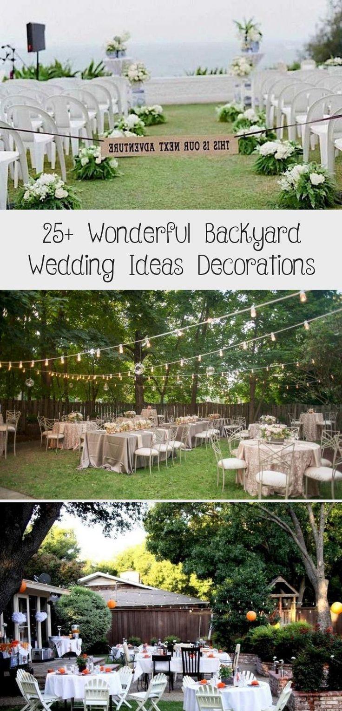 Jan 26, 2020 - 25+ Wonderful Backyard Wedding Ideas Decorations #backyardshed #backyardlandscaping #backyardplayhouse
