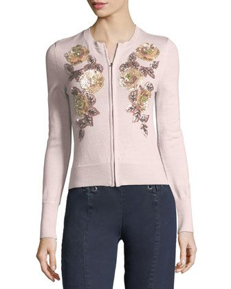 Cha Cha Floral-Embellishment Cardigan by Nanette Lepore at Bergdorf Goodman.