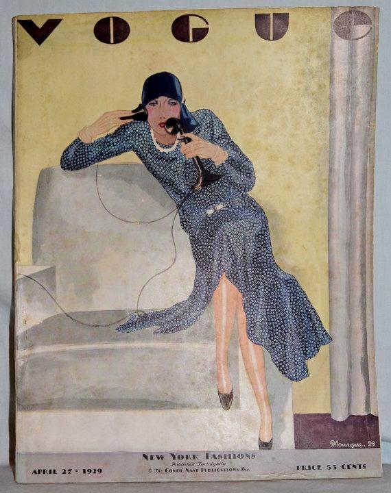 Rare Vintage Vogue Original April 27 1929 by whosyourdaddy71, $425.00