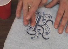 Embroidery Library - Machine embroidery on towels