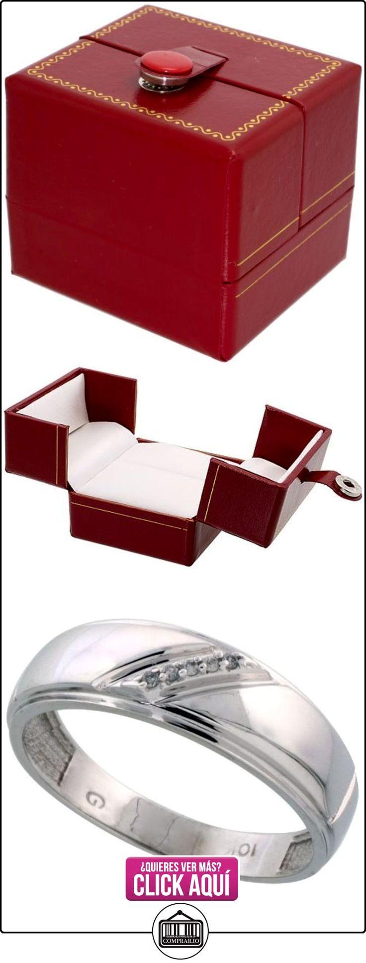 Revoni - Juego de alianzas de oro blanco  ✿ Joyas para hombres especiales - lujo ✿ ▬► Ver oferta: http://comprar.io/goto/B005NW54T2