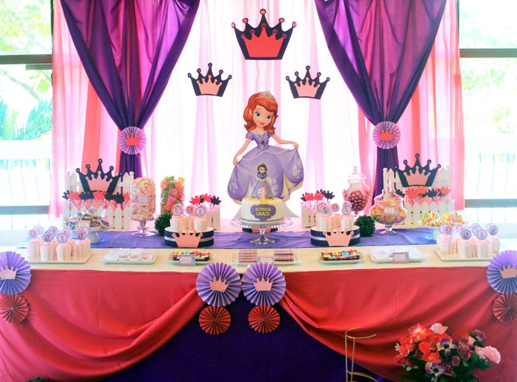 Sofia the First Dessert and Candy Buffet