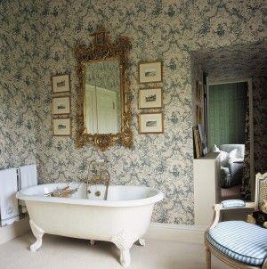 Diseño de baño victoriano