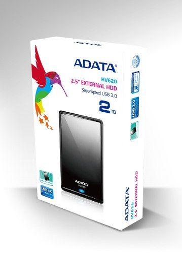 adata disco duro externo 2tb portatil usb 3.0 2.0 hv620 negr