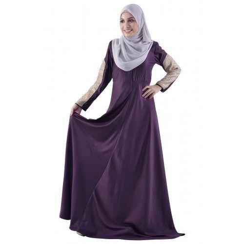 Tweed the Fine Print Jubah in Purple