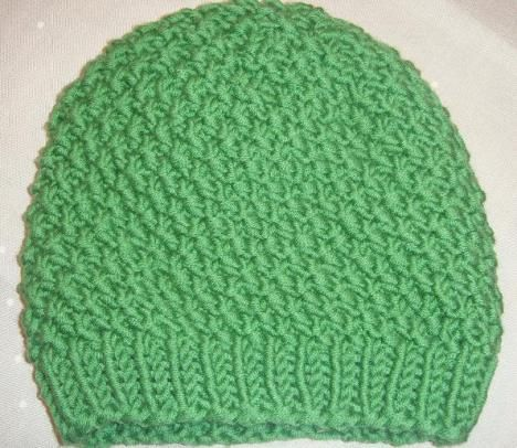 Mütze Perlmuster grün