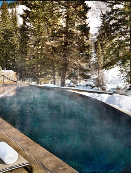 Sit (heated) poolside in Vail, Colorado.