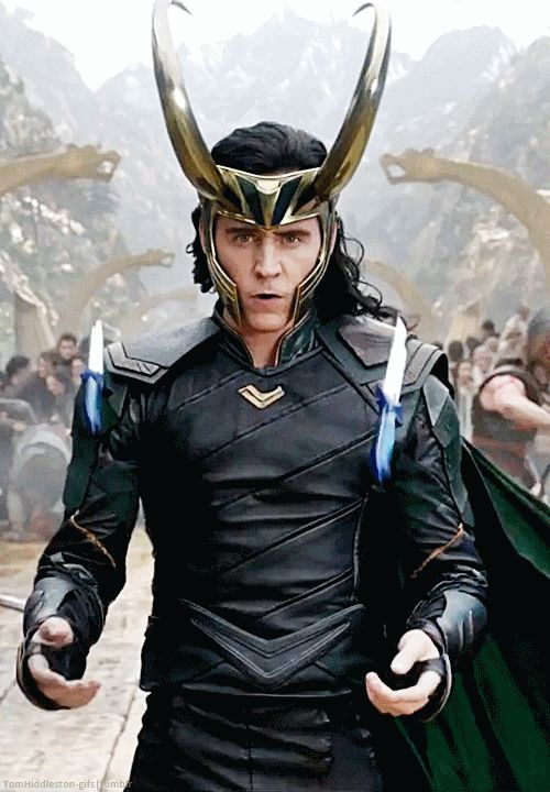 source: thomashiddleston-gifs.tumblr.com  First look at Loki in Thor 3: Ragnarok's new trailer