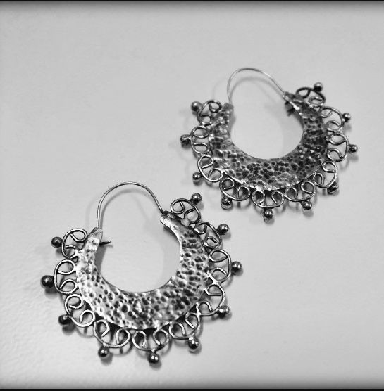 My hand made boho metal earrings