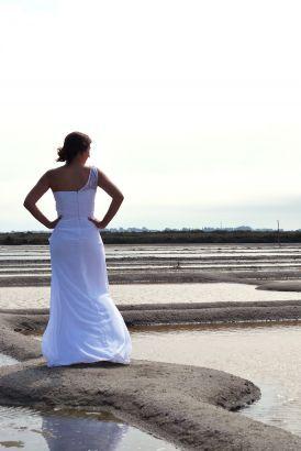 Robe de mariée sirène mousseline dentelle buste, Collection 2016 www.portez-vos-idees.com