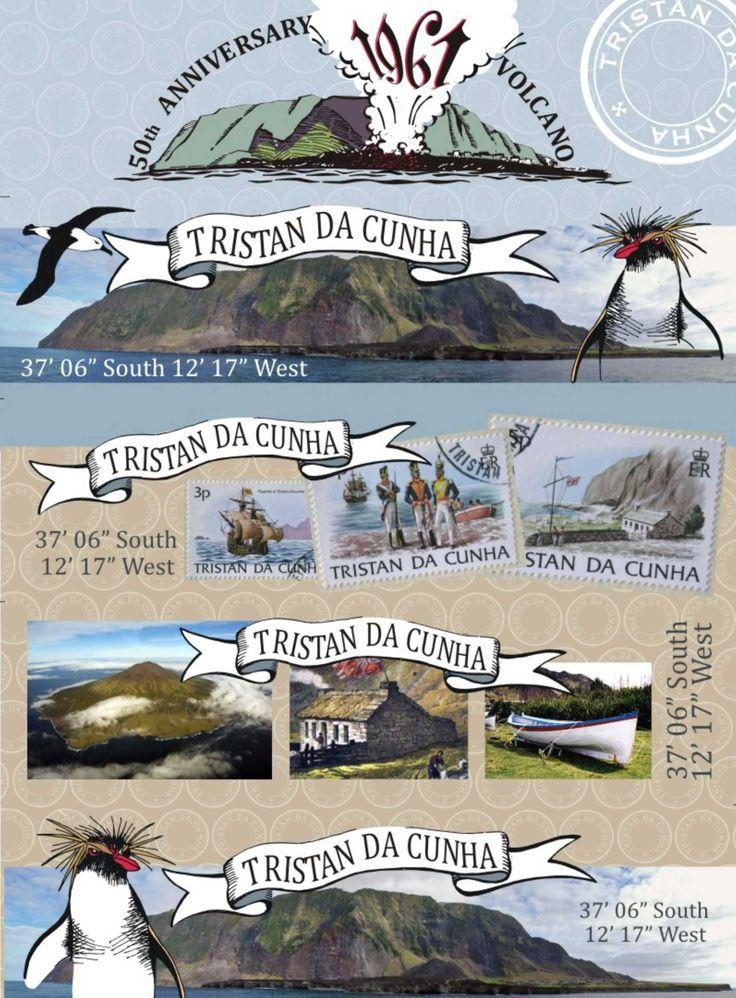 Bookmarks Tristan da Cunha. 50 year anniversay 1961 volcano. #volcano #tristandacunha #bookmarks #illustration #photography