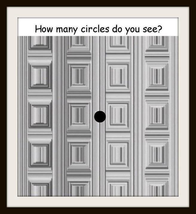 illusions optical brain teasers circles many eye tricks mind magic funny