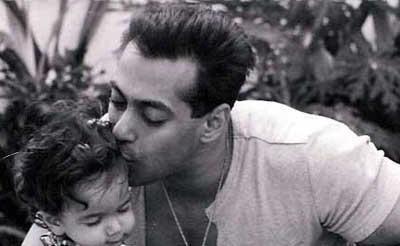Salman Khan with baby Arpita Khan