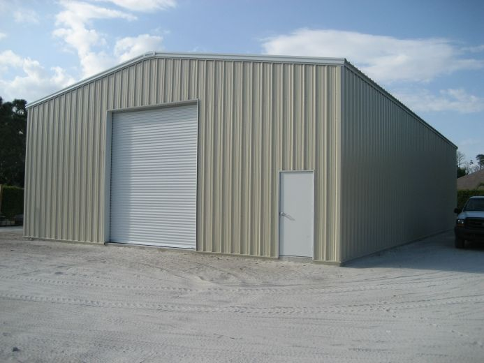 40x60 metal building with a 10 x 14 commercial wind lock for 40x60 barn
