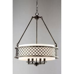 Shop for Lux Bronze 4-light Beige Pendant Chandelier. Get free shipping at Overstock.com - Your Online Home Decor Outlet Store! Get 5% in rewards with Club O! - 13604573