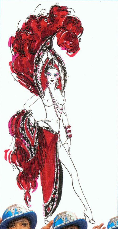 Red Showgirl Finale Costume designed by Bob Mackie