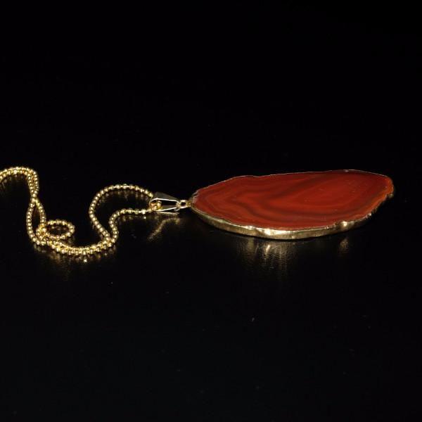 Agate Slice Gem Medicine Necklace-Dr Druzy-Dr Druzy