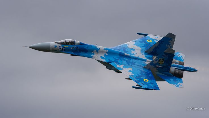 * 58 blue * Su-27 * 831 BrTA *  16-07-17 Fairford #RIAT *