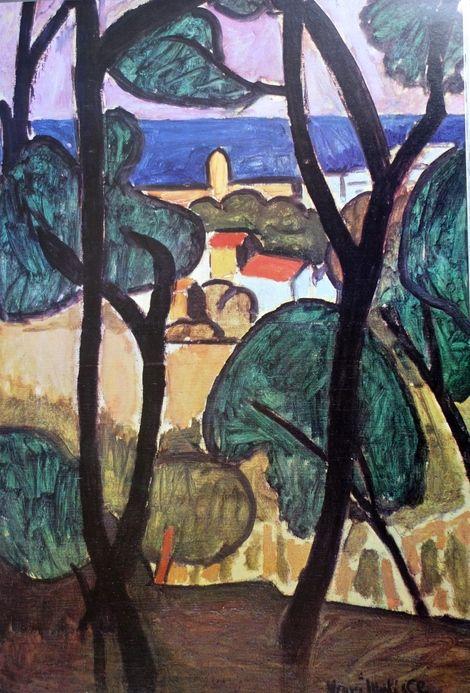 Henri Matisse, paysage à cagnes sur mer on ArtStack #henri-matisse #art