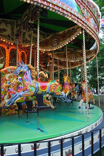 London, Hyde Park Carousel  (Photo Credit MariebethEliza via Flickr)