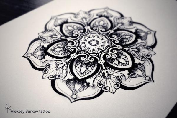 Мандала - татуировка фото и эскиз от тату-мастера Алексей Бурков в стиле , ,