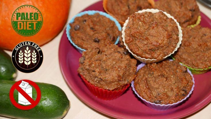 Paleo Pumpkin Zucchini Muffins Muffin recipe suitable for paleo, gluten-free, and dairy-free diet.