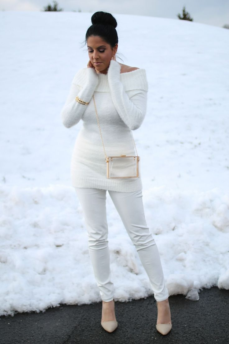 Comfy And Cozy In White! www.fashionswain.com
