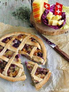 Crostata Salata con Cavolo Verza, Cavolo Cappuccio Viola, Salsiccia e Emmentaler DOP | 2 Amiche in Cucina