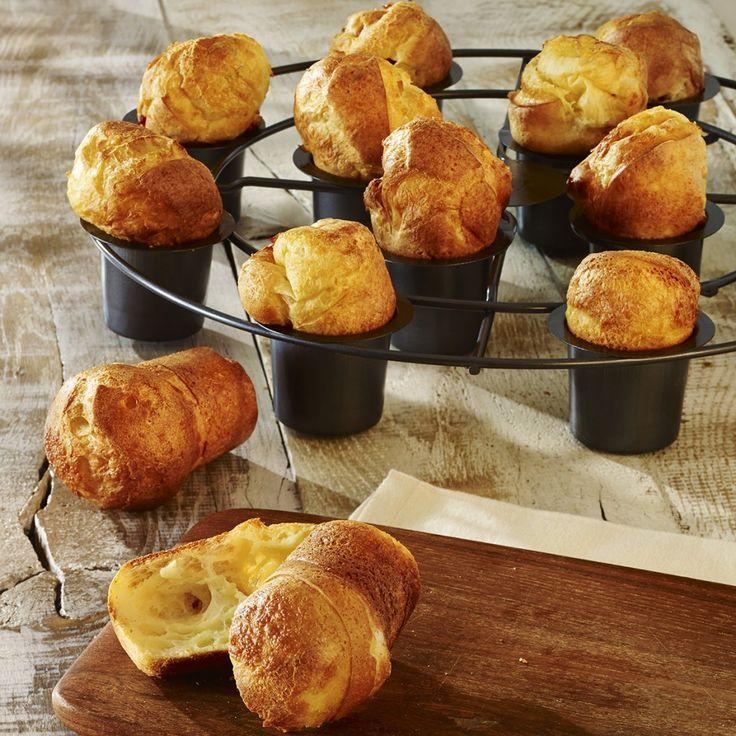PopOvers - das neue Trendgebäck! Köstlich & luftig  bringt es Abwechslung auf den Frühstückstisch. Vielseitig & lecker, einfach & blitzschnell zubereitet.