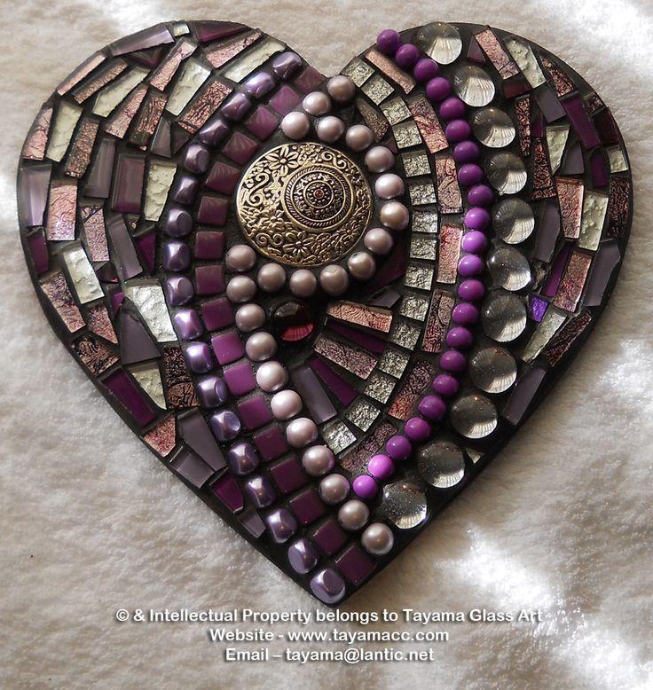 Mosaic Heart - Purple -https://www.facebook.com/groups/TayamaCrafts/