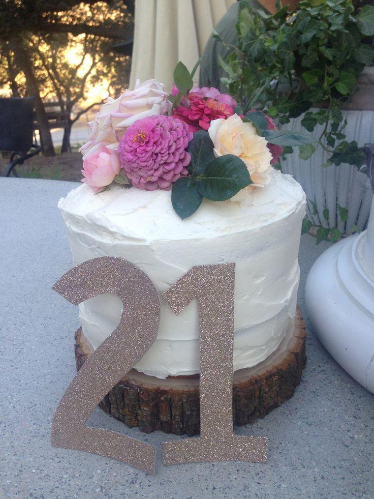 21st Birthday Cake { By Natalie Evenson }