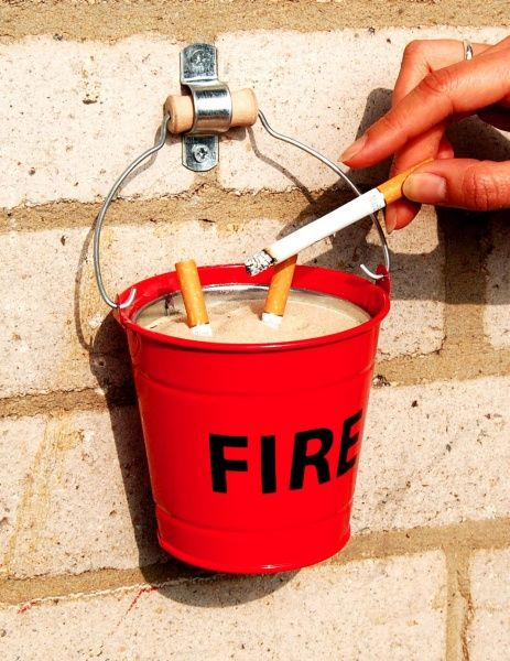 Fire Bucket Ashtray from the Suck Uk Range - This mini enamelled steel fire…