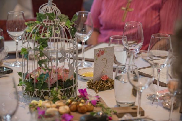 Unique bird cage centerpieces (Our Day Wedding Photography)