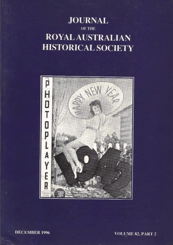 Journal of the Royal Australian Historical Society - Dec. 1996, Vol. 82, Part 2