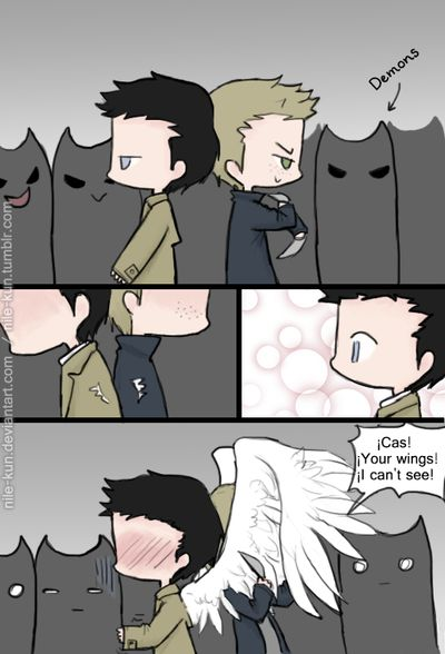 Day 22: In battle, side-by-side of the 30 Day OTP Challenge (Destiel version)