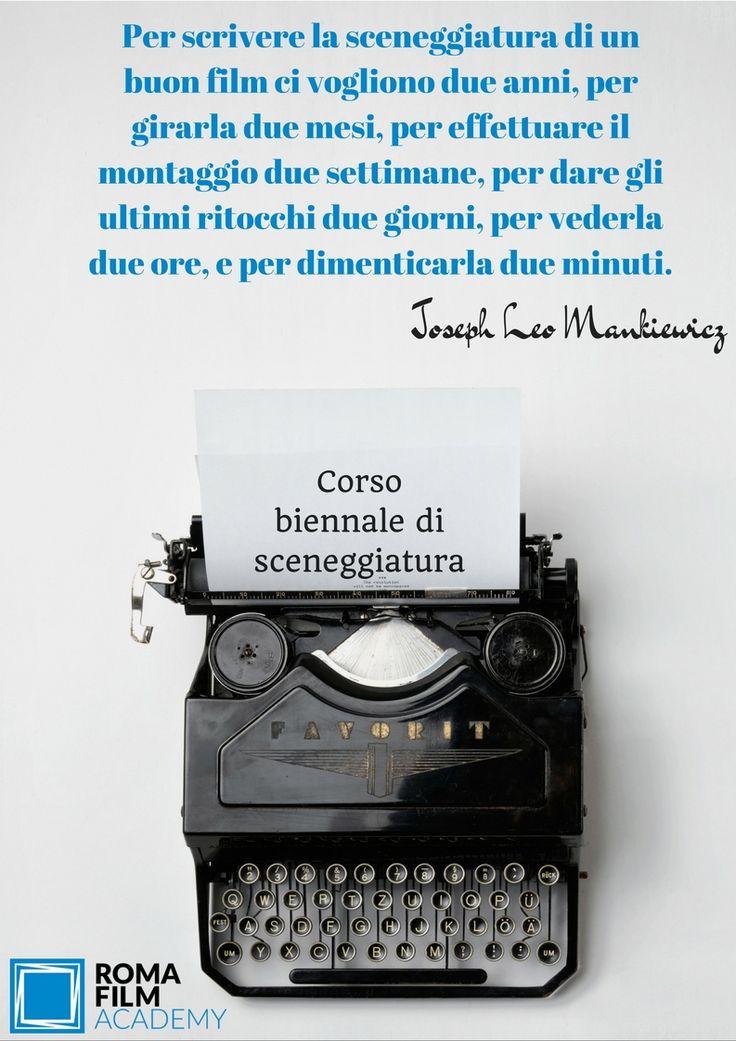 Corso di sceneggiatura alla Roma Film Academy.   Seguici su www.romafilmacademy.it