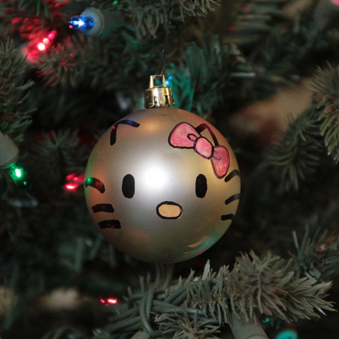 Hello+Kitty+Hand+Painted+Christmas+Ornament+by+TheGildedMoose,+$5.00