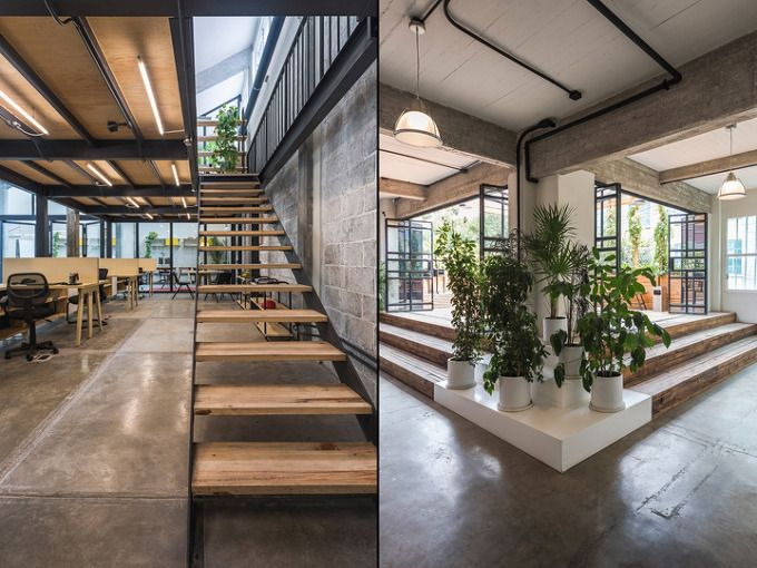 *공장을 공동작업공간으로 리노베이션-[ Estudio Atemporal ] Guateque co-working offices,Mexico City,Mexico :: 5osA: [오사]