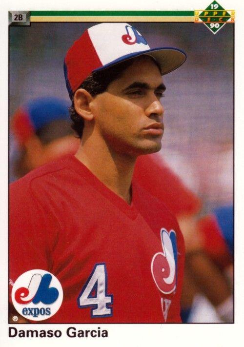 Random Baseball Card #1932: Damaso Garcia, second baseman, Montreal Expos, 1990, Upper Deck.