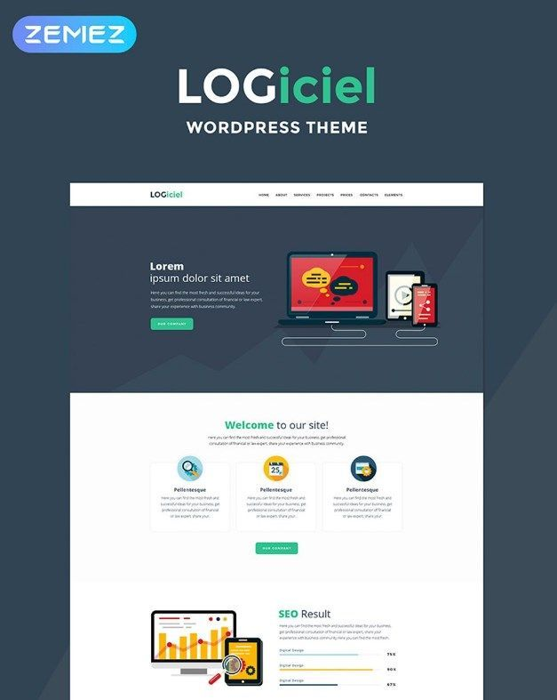 Logiciel is an excellent theme for creating a quality business software development website. Such theme as Logiciel literally conquers the hearts of users with its easiness of use. It should be noted that this theme is configured to help users to create a notable web or software development project in a matter of minutes.  #business #software #wordpress #computers #internet  https://www.templatemonster.com/wordpress-themes/logiciel-software-company-wordpress-theme-67681.html