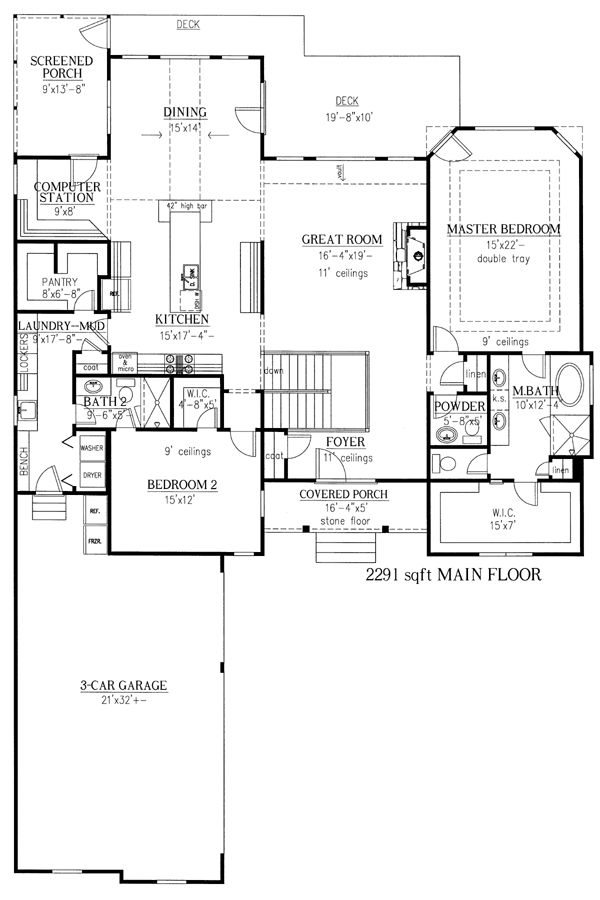House plan 50245 european hillside plan with 3787 sq ft Hillside garage plans