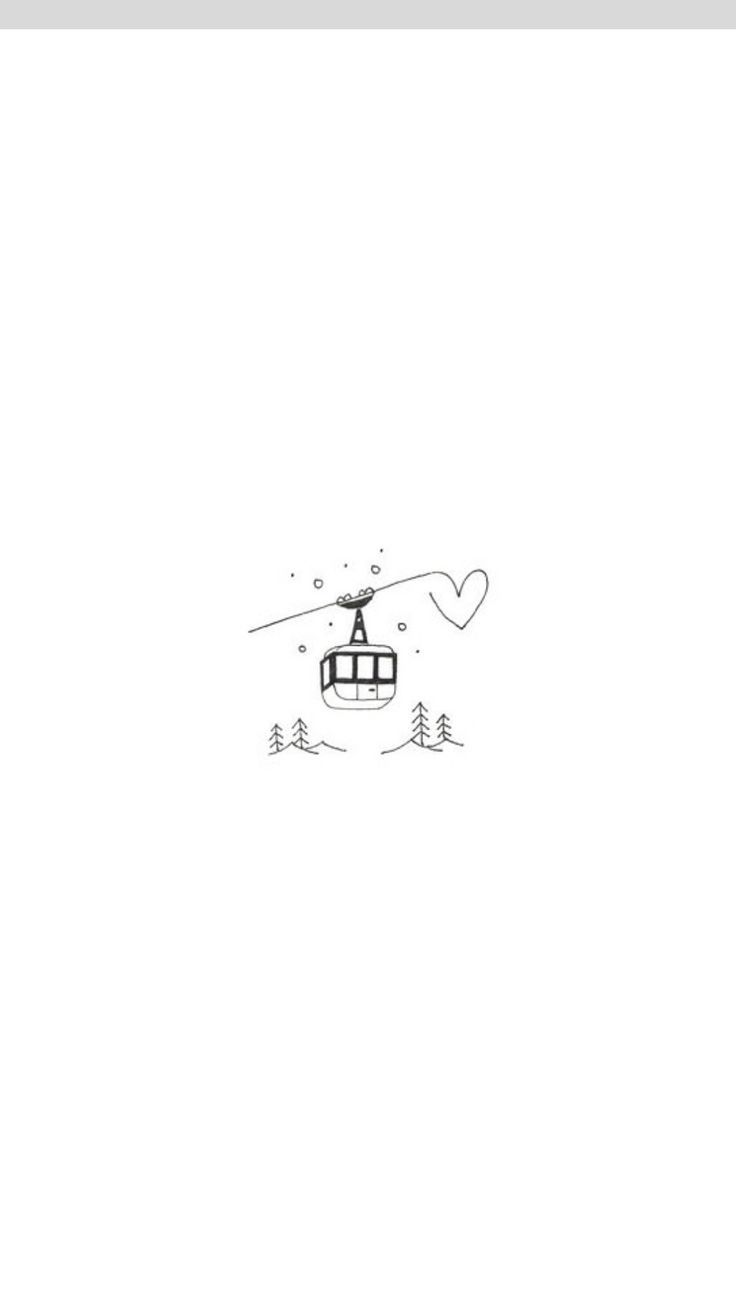 Cute Gunna Try And Draw This Later Ski Drawing Small Drawings Cute Drawings