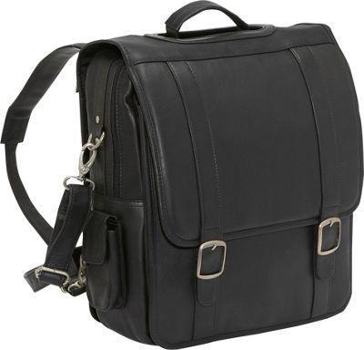 Le Donne Leather Convertible Backpack/Laptop Brief Black - via eBags.com!
